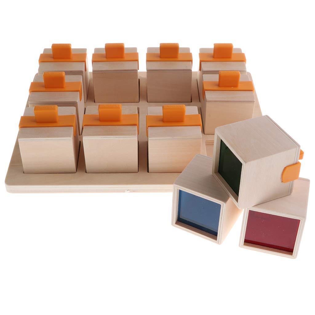 Enfants Montessori boîte à musique Éducation Building Block Éducatifs Sensorielle Vision et Entendre Développement Mémoire Correspondant Puzzles Cadeau