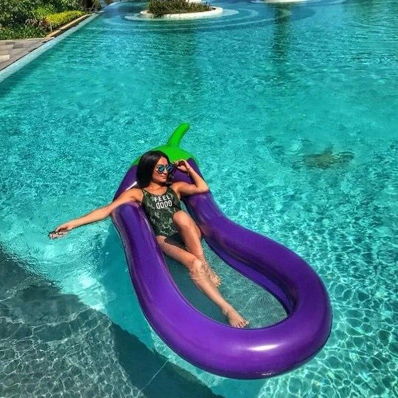 Matelas pneumatique pliable piscine plage gonflable flotteur anneau coussin lit chaise longue matelas hamac Sports nautiques