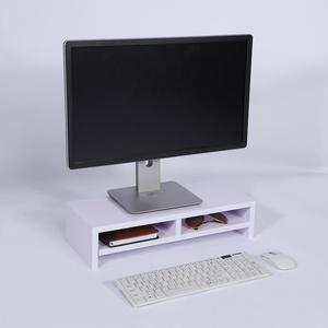 Desktop Monitor Stand LCD TV Laptop Rack Computer Screen Riser Shelf Office Desk Purplish Tool White(China)