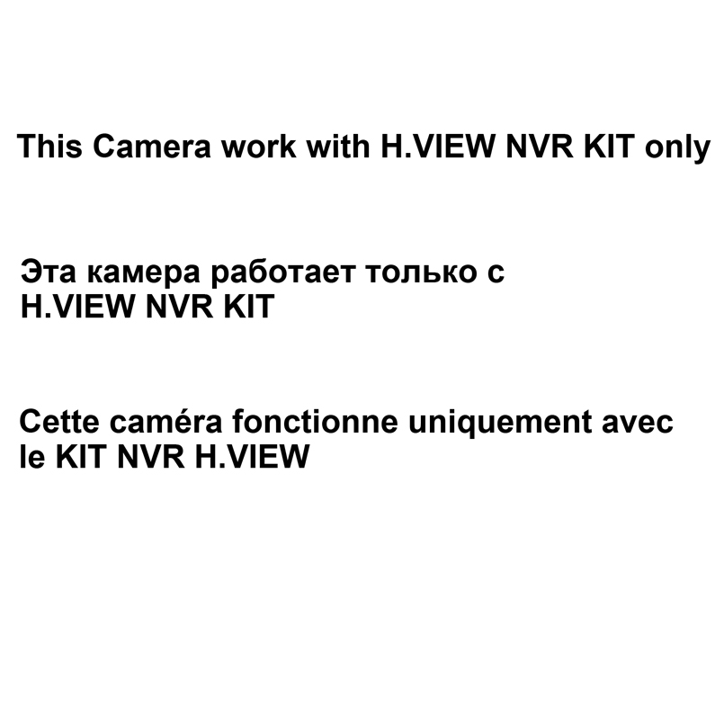 H.VIEW 1080P PoE IP Camera for H.VIEW PoE Video Surveillance Kit Expansion Camera for Video Surveillance Systrem Kit