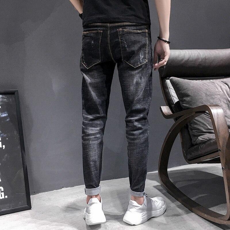 Le Mode Velours Jeans Chaud Streetwear Noir De Mince Hop Rétro Et Nouveau Hiver Black Pantalon Hommes Vêtements black Velvet Hip Homme Automne Lavé Plus Denim f78z4WFF