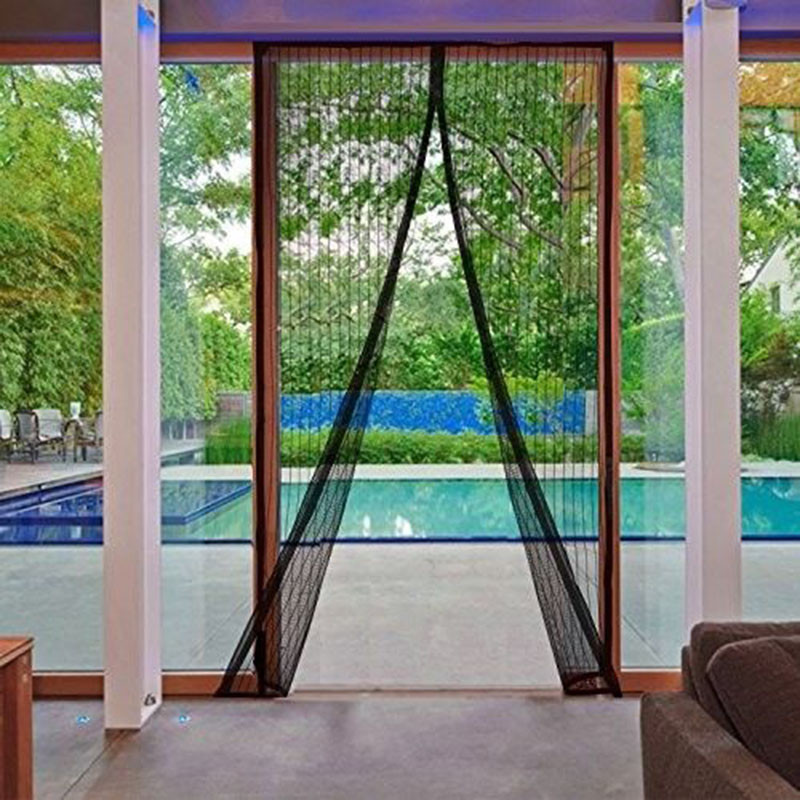 Summer Anti-Mosquito Curtains With Magnetic Fastener Stripe New Encryption Mosquito Net On The Door Magnets Screen Door Curtain