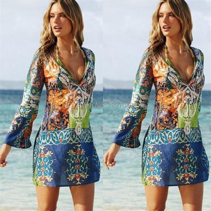 2019 Beach Chiffon Cover Up Dress Sarong Bathing Suit Coverups Beach tunic Cover-Ups Swimsuit Swimwear Pareo