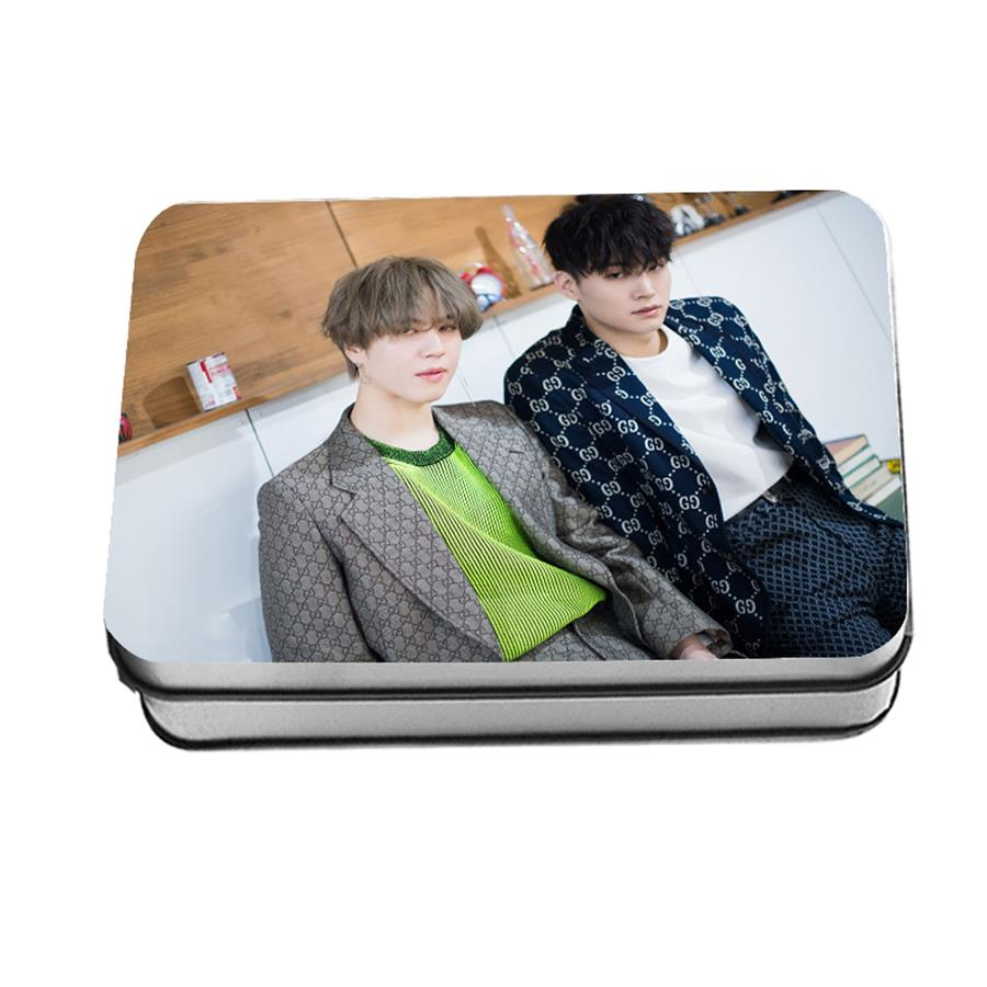 Kpop Got7 Jus2 Albunm Focus Polaroid Lomo Photo Card Jb Yugyeom Hd Collective Photocard Cards With Metal Box 40pcs/set To Help Digest Greasy Food Jewelry Findings & Components Jewelry & Accessories