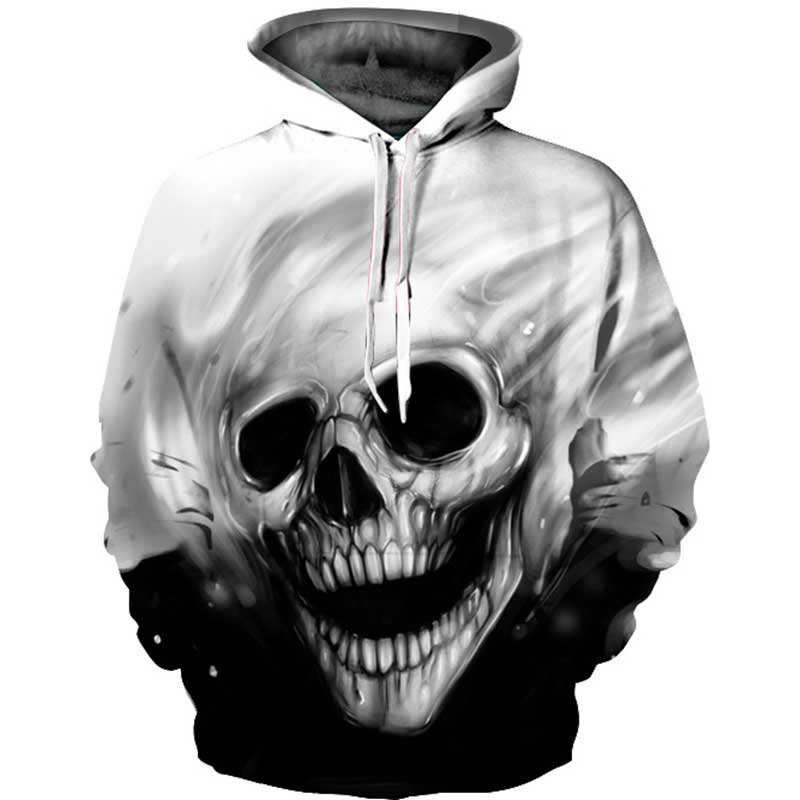 2019 3D Branch Skull Hoodies Sweatshirt Unisex Autumn Winter Sportswear Tracksuit Casual Plus Size Clothing 3D Hoody Tops S-4XL