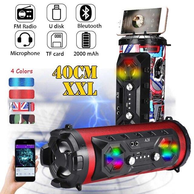 20 Вт открытый bluetooth 4,2 динамик Move KTV 3D Звуковая система звуковая панель сабвуфер 2000 мАч Портативная звуковая колонка FM USB AUX TF