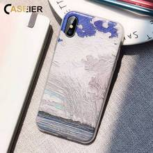CASEIER Painting Phone Case For iPhone X XS MAX XR Soft TPU Case For iPhone XS MAX 8 7 6 6S 5 5S SE Capa Funda Capinha Coques цена и фото