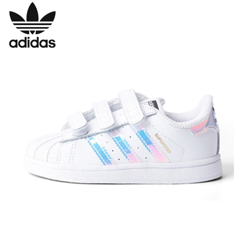 Adidas Superstar Kids Original Children's Skateboarding Shoes Anti-Slippery Sports Sneakers #AQ6280(Fits smaller than usual