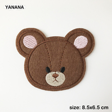 bear Patch for Clothing cartoon Bear Iron on Embroidered Sewing Applique Cute Sew On Fabric Badge DIY