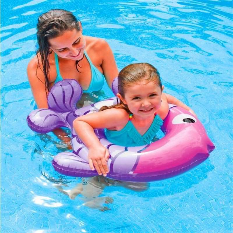 2019 Summer Cute Cartoon Fish Baby Swimming Ring Inflatable Pool Child Arm Shoulder Circle Summer Float Type Support Water Toys