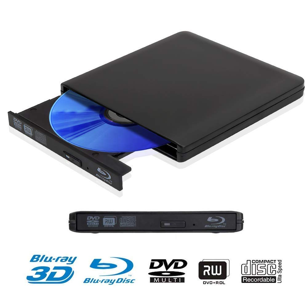 USB 3.0 Blu-ray External DVD CD Drive Portable Ultra-thin CD/DVD-RW Writer Player For Laptop Notebook PC Computer Optical Drive