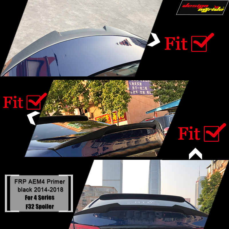 F32 Tail Spoiler Rear Wing AEM4 Style FRP Primer black for BMW F32 Tail Trunk Lid Boot Wing 4 Series 440i 420i 428i 430i 2013 18-in Spoilers & Wings from Automobiles & Motorcycles    2