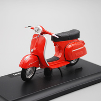 Model Motorcycle Toy Roman Holiday Movie Series Vespa Diecast Models 1/18 Scale Model Toys For Children Collecting Gifts
