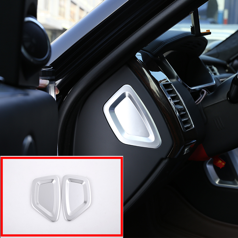 ABS Chrome New Luxury Interior ABS Dashboard Speaker Frame Trim For Land Rover Discovery Sport 2015-2017