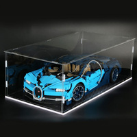 Plastic Transparent Display Case Show Box Building Block Model Display Box With Dust Cover For RSR 42096 Figures Doll Model