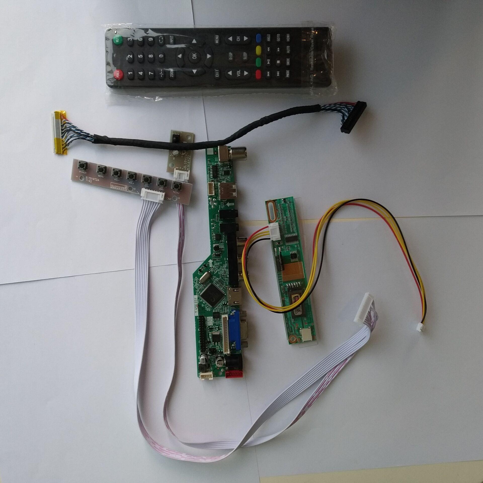 TV LED AV VGA HDMI LCD RF Controller Board Kit For LTN156AT01 1366×768 15.6