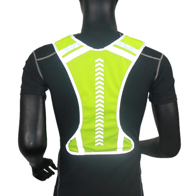Yellow Outdoor Night Riding Running Reflective Visibility Sport Riding Hen Party Safety Jacket Vest in Cycling Vest from Sports Entertainment