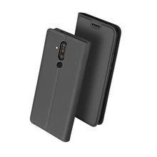 Leather Case for Nokia X71 Flip Stand Slim Book Design Shockproof Magnetic Prote
