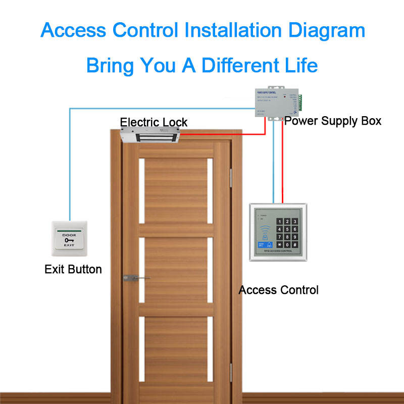 eseye rfid access control system security device machine proximity card  reader entry door lock quality for door access control