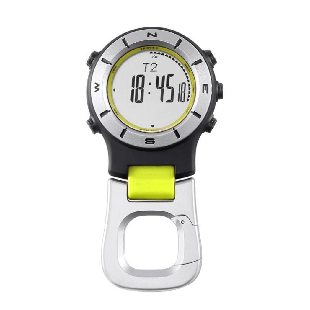 Batterie horloge décontractée en plein air etc bouton étanche alarme baromètre 58g montre en plein air CR2032 boussole thermomètre voyage