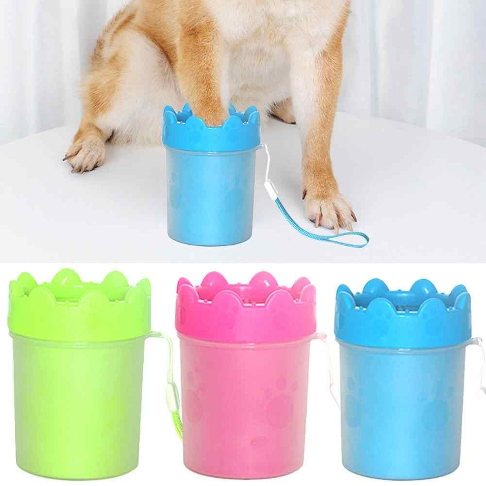 Copo Limpo Escova Macia Pode Para O Cão do Filhote de Cachorro Da Pata do animal de estimação Gato Gatinho Garra Rápida Limpeza Dispositivo de Lavagem Suja Lavar o Pé pernas Limpo