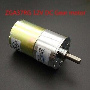 Image 4 - 37GA520RG dc 12 V getriebe motor 24 rpm 5/10/15/20/30/50/ 45/60/80/100/120/150/200/300/500/100 0 RPM geschwindigkeit 37 MM Zentrale welle