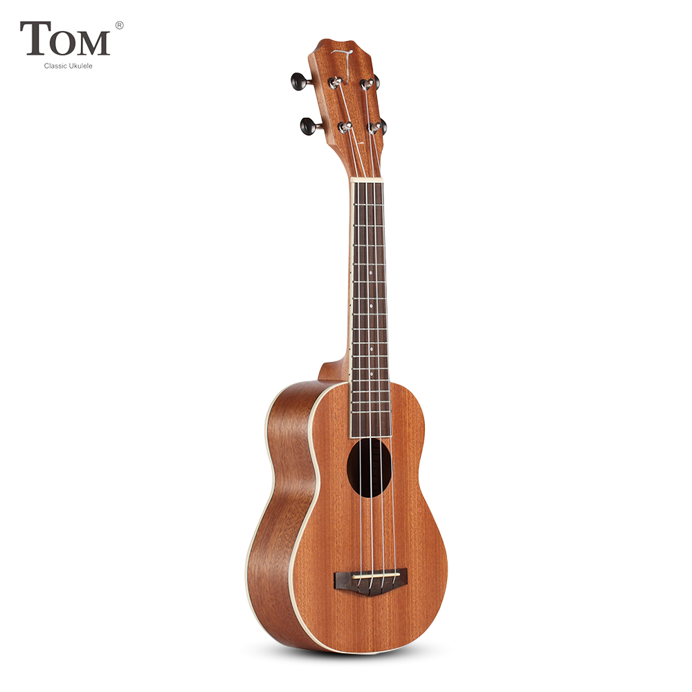 TOM TUS 200B Acoustic Concert Soprano Ukulele with Carrying Bag Music Gifts Guitar 4 Strings Sapele