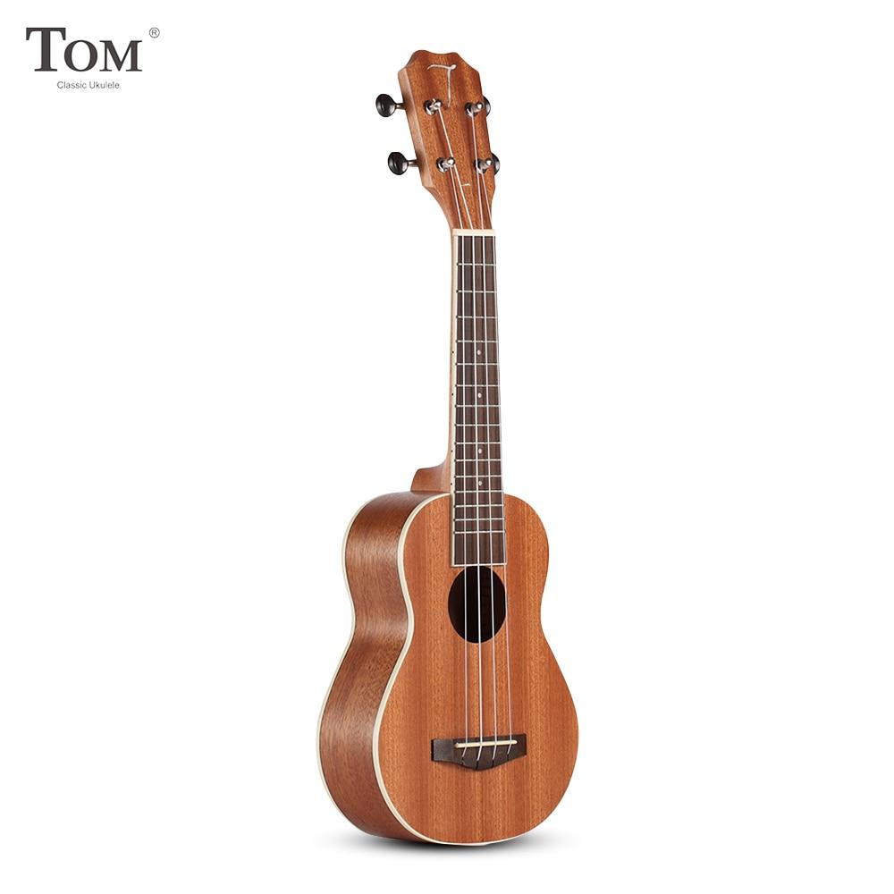 TOM TUS-200B acoustique Concert Soprano ukulélé avec sac de transport musique cadeaux guitare 4 cordes Sapele palissandre Instruments de musique