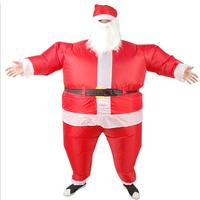 Stylish Christmas Dress Cute Inflatable Santa Claus Clothes Christmas Party Accessories Xmas Man Doll Clothes Decoration