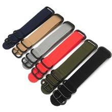 Heavy Duty Nylon Watch bands NATO ZULU Strap 20mm 22mm 24mm Striped Rainbow Canvas Replacement Watch Band 28cm стоимость