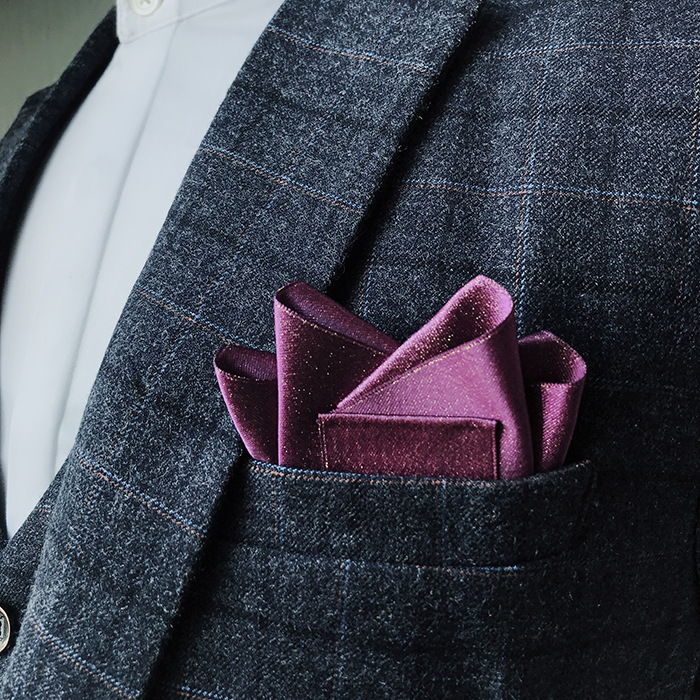 Men's Formal Wear Wedding Suit Pocket Towel British Square Scarf Wedding Chest Towel Suit Bag Towel Brooch Fold-free Straight