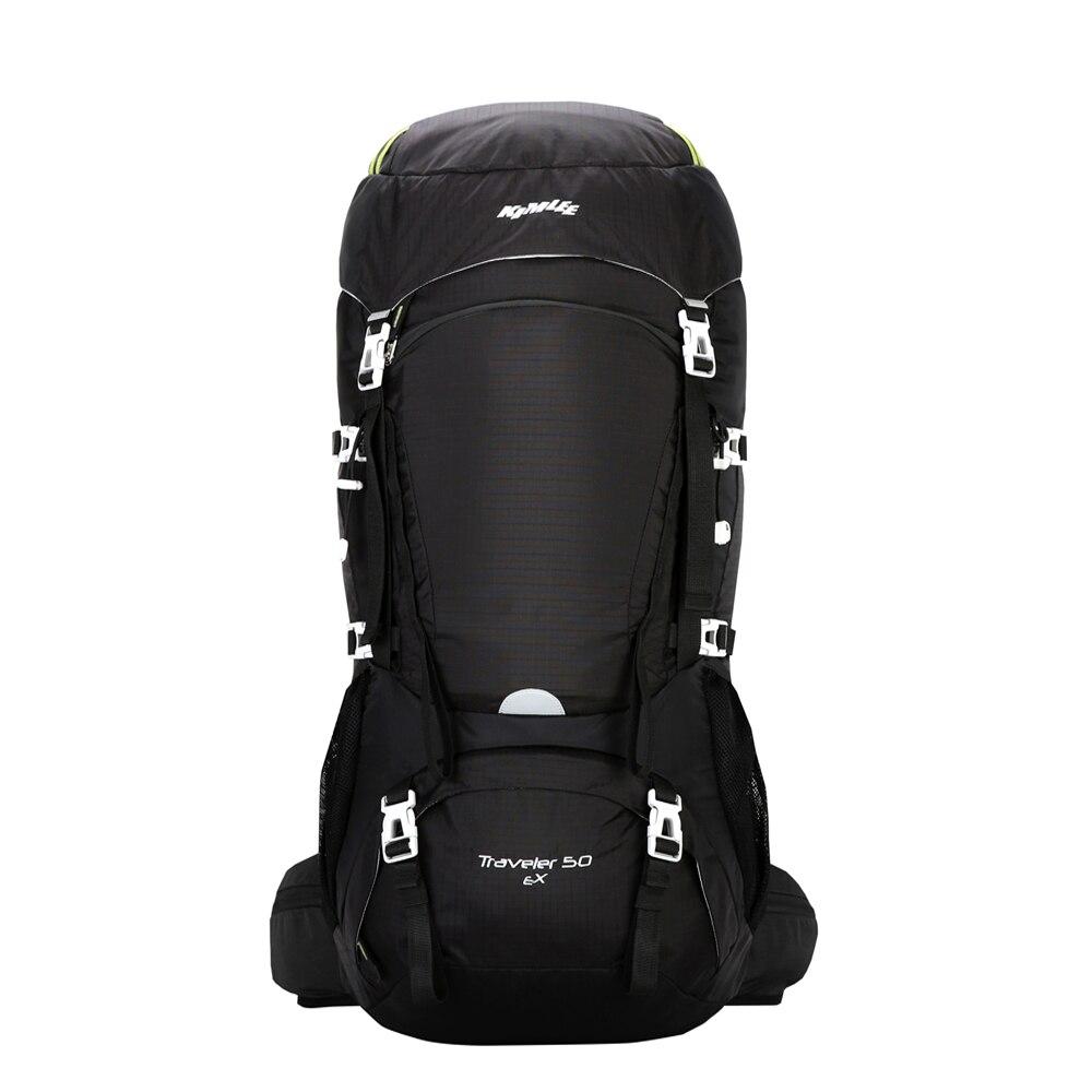 Kimlee 50L sac à dos extérieur confortable Camping randonnée sacs escalade voyage ski sac étanche sac à dos avec housse de pluie