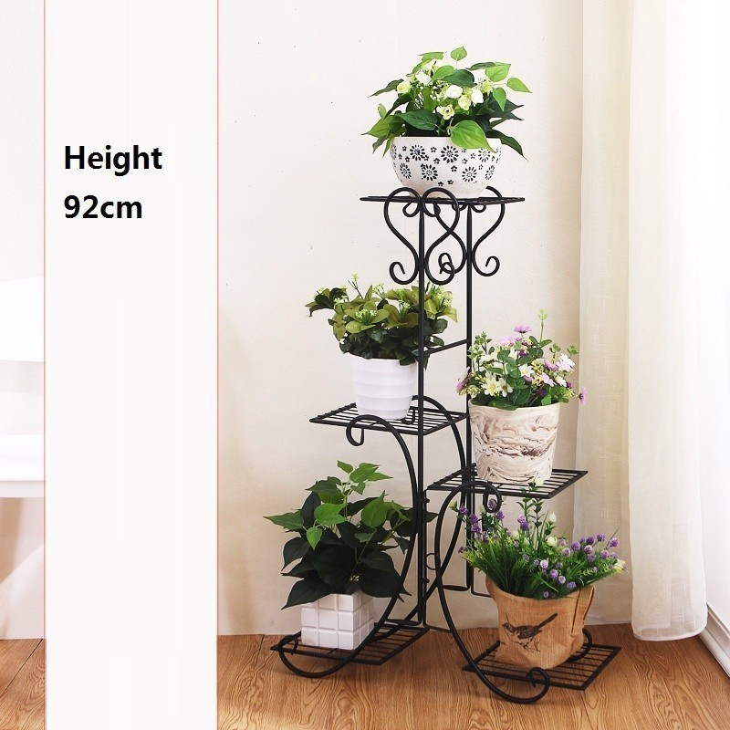 Image 4 - Scaffali In Metallo A Ripiani Support Plante Varanda Decoration Exterieur Shelf Plant Stand Balcon Balkon Flower Iron Rack-in Plant Shelves from Furniture