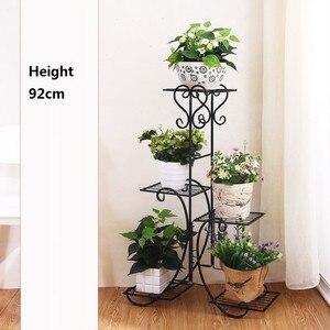 Image 4 - Scaffali çinde Metallo bir Ripiani desteği Plante Varanda dekorasyon Exterieur raf bitki standı Balcon Balkon çiçek demir raf