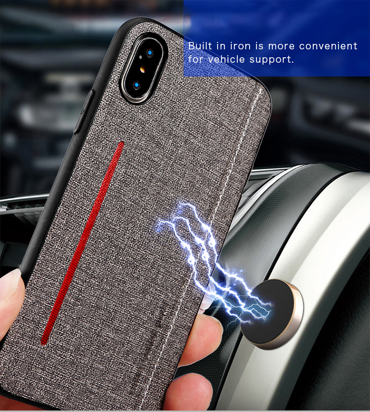 Moskado Phone <font><b>Case</b></font> Can Be <font><b>Magnetic</b></font> Adsorption For <font><b>iPhone</b></font> 6 6S 7 <font><b>8</b></font> Plus X XR XS Max <font><b>Case</b></font> Cloth Texture Hard PC For <font><b>iPhone</b></font> 7 Cover image