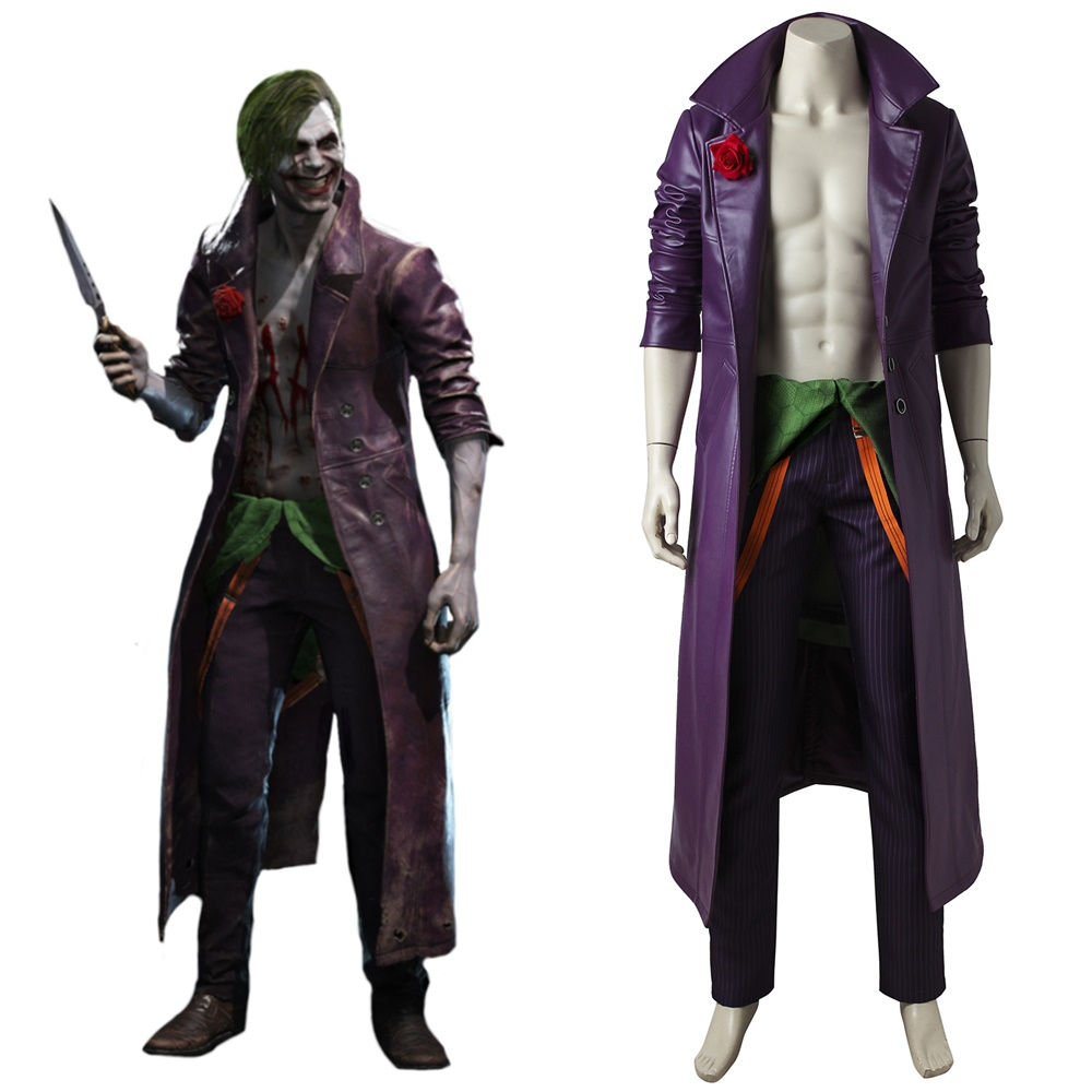 Injustice 2 Injustice Gods Among Us Joker Cosplay Costume Handmade