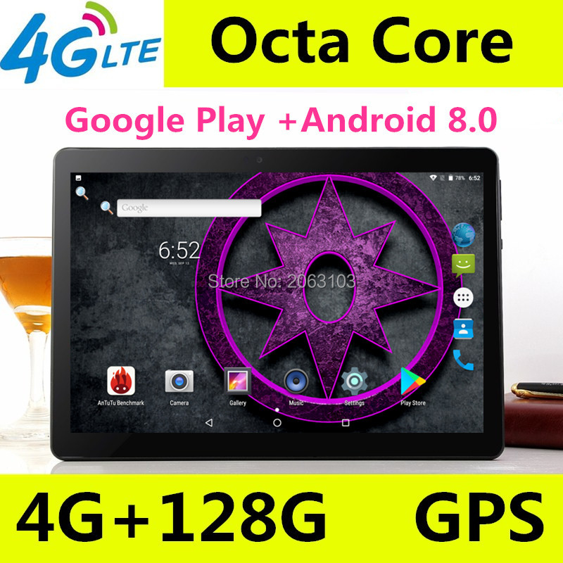 10 inch tablet pc Android 8.0 octa core RAM 4GB ROM 128GB Dual SIM Bluetooth GPS 1920*1200 IPS tablets pcs best Christmas gift