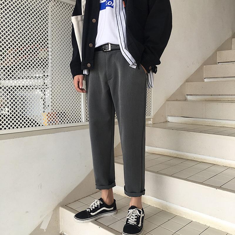 Qualifiziert 2019 Sommer Männer Der Western-stil Grau/schwarz Farbe Hosen Anzug Hosen Formalen Mode Trend Hosen Lose Beiläufige Hosen Größe M-2xl Verbraucher Zuerst Mutter & Kinder