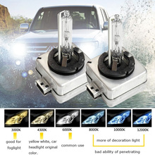 2018 35W Car HID Bulb D1S D2S D3S D4S HID xenon headlight bulb D1 D2 D3 D4 D1R D2R D3R d4r headlamp light 4300K 6000K 8000K 2PCS bifi 2x v2 d1 d2 d3 d4 dc11 30v car headlights low beam white 72w lumens 8400lm titanium gray
