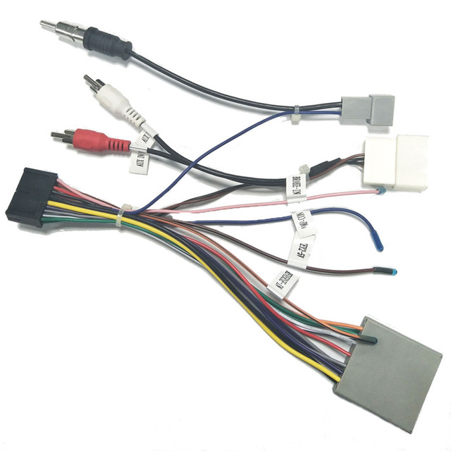 US $11.3 5% OFF|20 PIN Car Stereo Wiring Harness Connector Adapter on