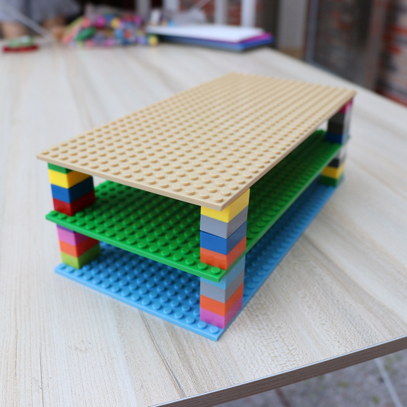 Двусторонние строительные блоки «сделай сам», 16*32 точки, опорная пластина, совместимые фигурки для детских игрушек, аксессуары MOC, 5 шт./лот