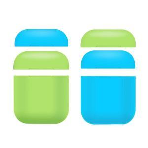 Image 1 - 부드러운 실리콘 휴대용 커버 블루투스 airpods 헤드폰 야간 조명 보호 케이스 스크래치 방지 보호 상자 애플