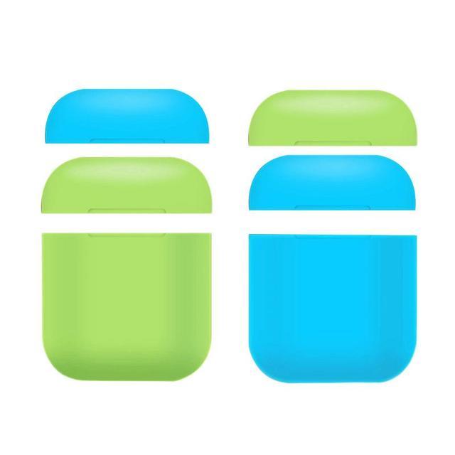 부드러운 실리콘 휴대용 커버 블루투스 airpods 헤드폰 야간 조명 보호 케이스 스크래치 방지 보호 상자 애플