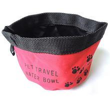 Защита окружающей среды складной питье для путешествий воды еда собака чаша портативный мешок Оксфорд ткань собака чаша случайный цвет
