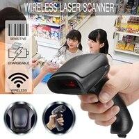 Barcode Scanner Wireless Bar Code Reader 2.4G Laser Barcode Scanner Appliance interface RS232 PS2 keyboard USB