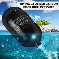 Paintball Cylinder Mini Scuba Tank 4500PSI 1.1L Carbon Fiber Paintball Equipment Diving Equipment Airforce Airsoft Air Bottle