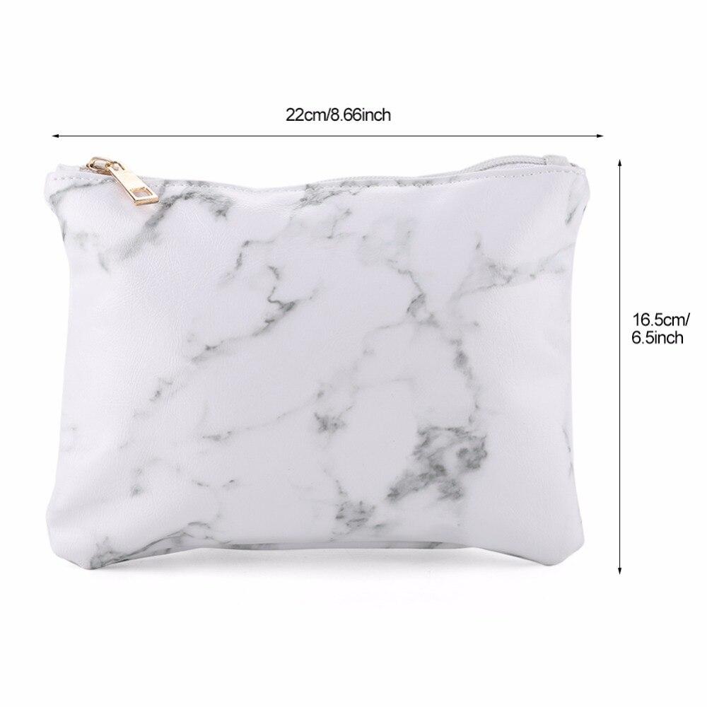 Tattoo & Body Art Original Creative Marble Women Backpack Bag Girls Casual Phone Cosmetic Bags White Pu Leather Handbag Makeup Tools Storage Case Beauty & Health