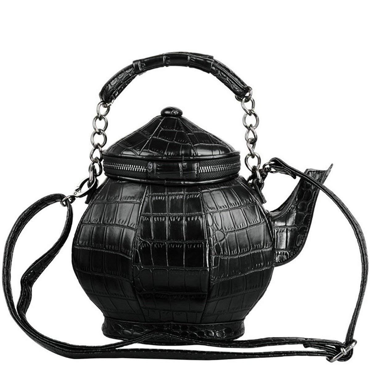 Sac à main gothique drôle théière en forme de bandoulière sac à main fourre-tout fourre-tout femmes sacs à bandoulière