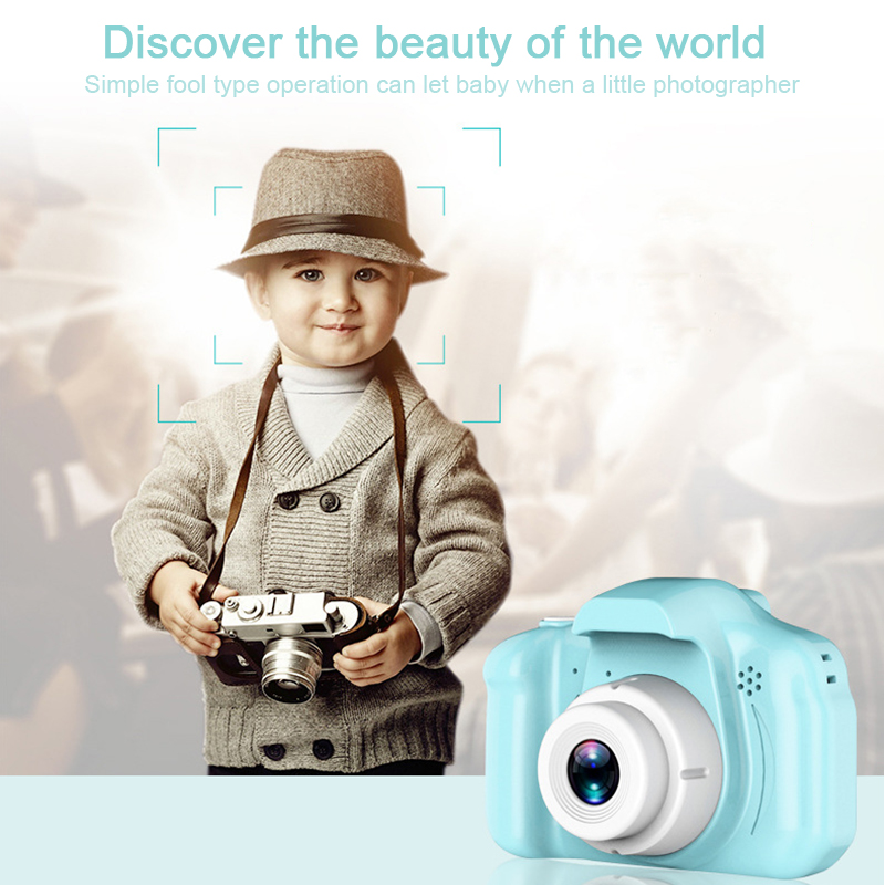 Children Mini Cute Digital Camera Toy Camera 2.0 Inch Take Picture 1080P Vedio Children Toys Video Recorder Camcorder(China)