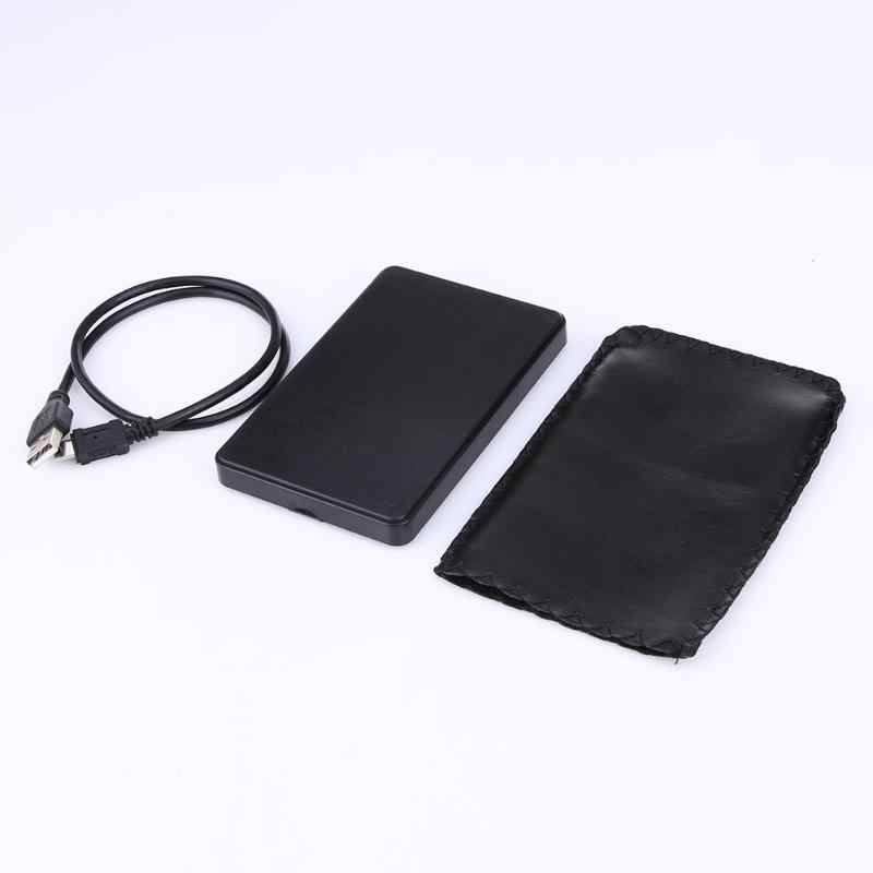 جديد المحمولة 2.5 بوصة HDD حالة USB 2.0 قرص صلب خارجي SATA محركات الأقراص الصلبة HDD مربع الضميمة مع كابل يو اس بي أسود